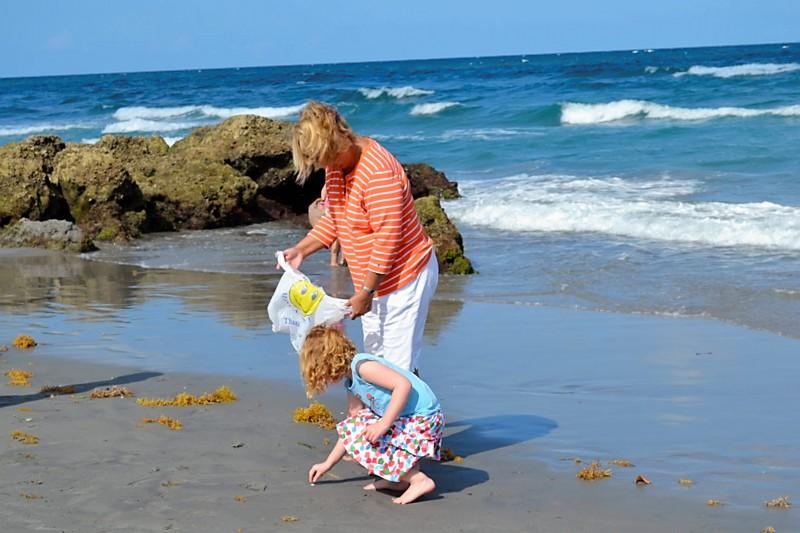 Spring Break: Combing the Beach for Shells + Trash
