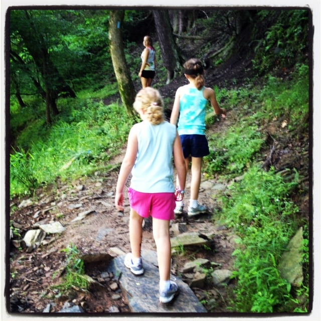 Clare, Kate & Jill Hiking