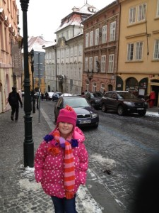 Kate on the Streets of Prague