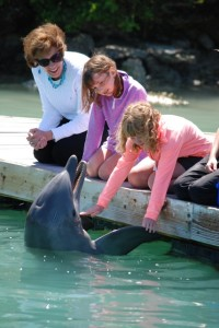 Me, Clare & Kate at Dockside Dolphins