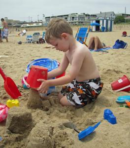 boy on the beach