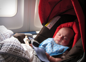 baby on a plane