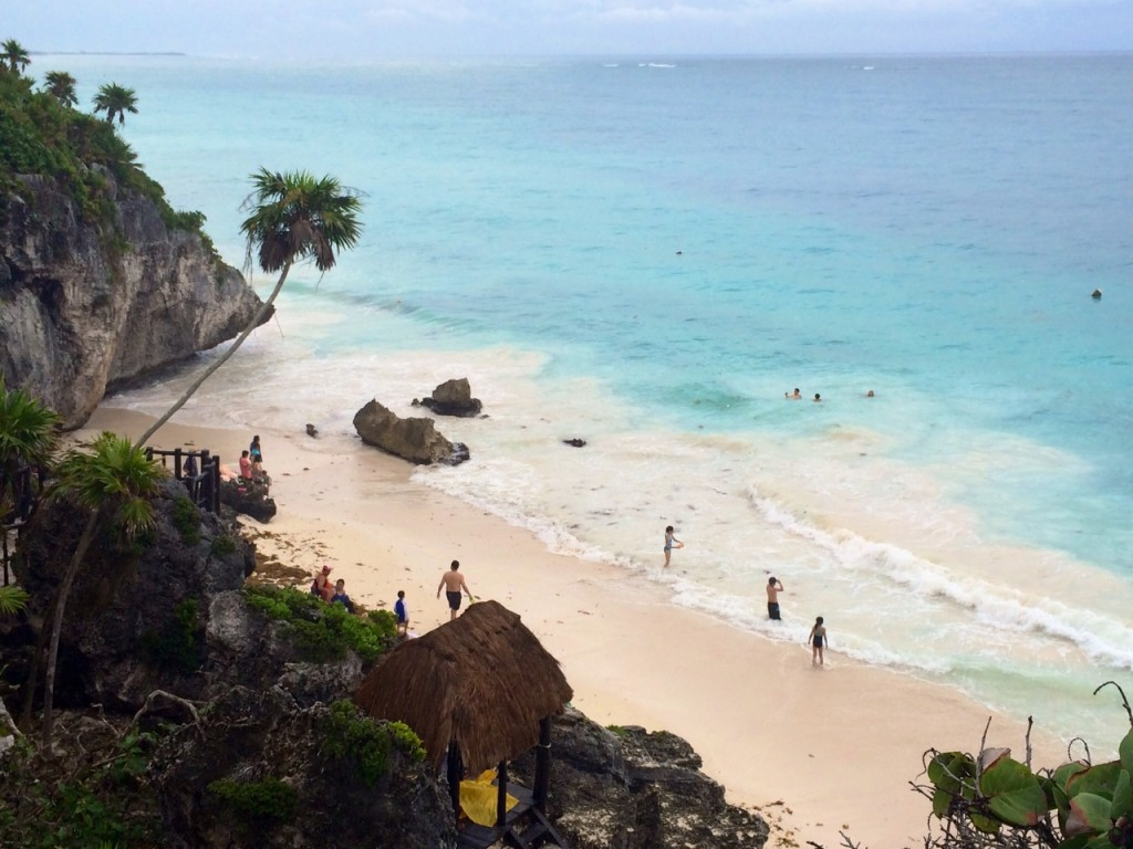 The Beach at Tulum was Amazing.