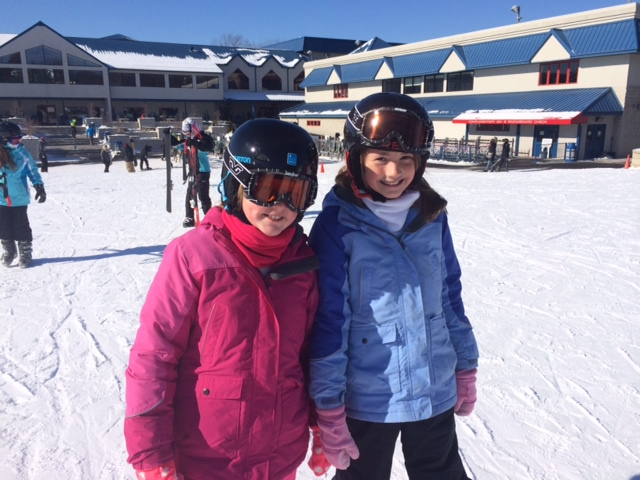 Clare & Kate are Ready to Ski.