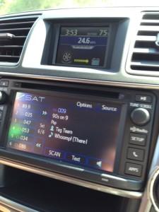 Loved the Satellite Radio in the Car.