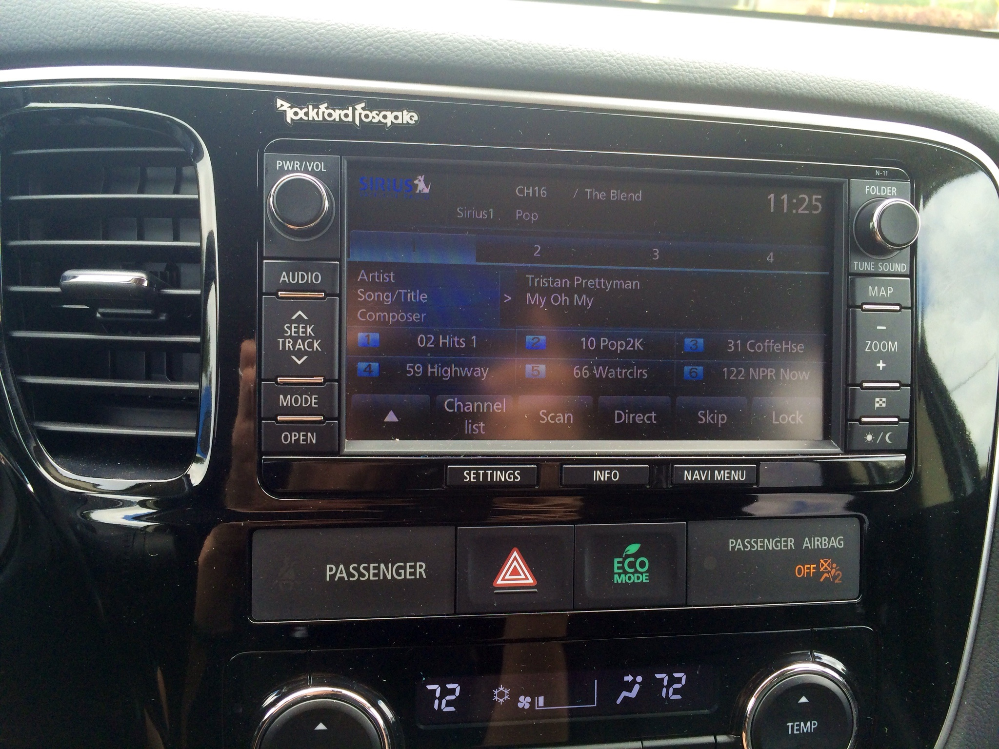 Excellent climate control features. Plus, a three-month Sirius radio trial.