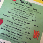fun fuel  menu