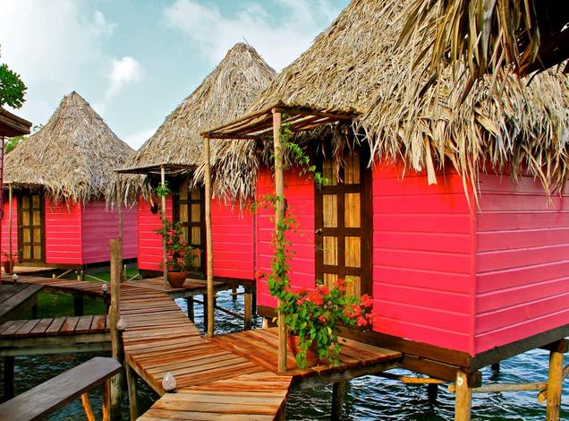 bungalows on stilts