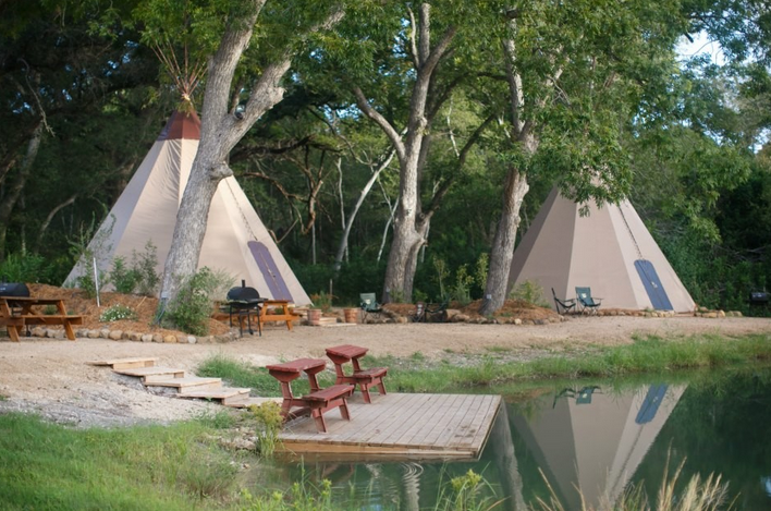 stay in a teepee