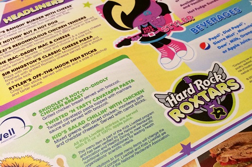 hard rock roxtars-menu