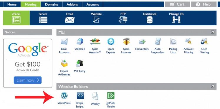 bluehost-wordpress setup