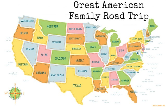 Usa Map 2015 Mapping The Great American Family Road Trip Kidventurous On Family
