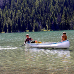 boys in a canoe
