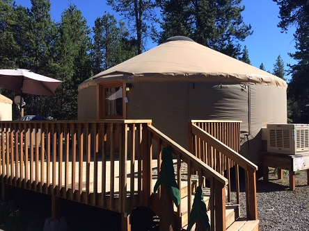 Our yurt at Bend-Sunriver RV Campground