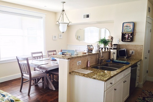It was so nice to have a kitchen and dining area during our stay in Galveston.