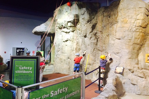 childrens museum-rock climbing