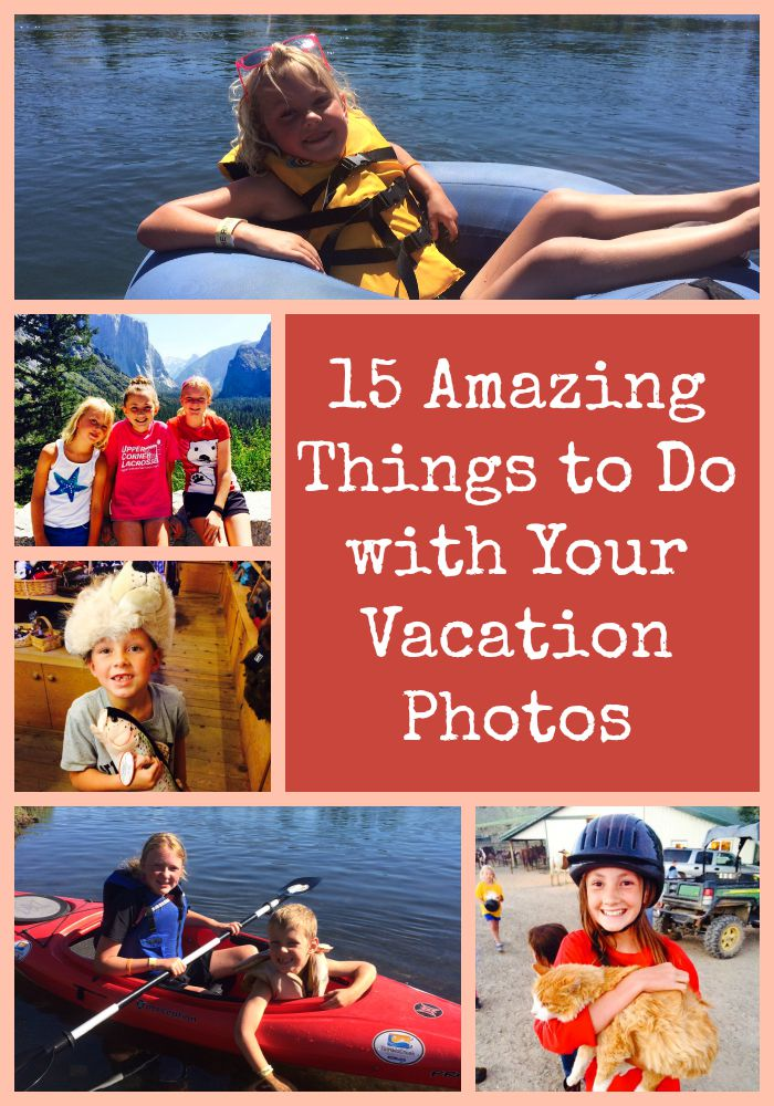 vacation photos collage