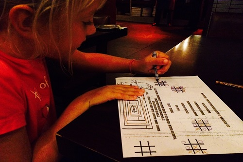 The kids loved Jackson 20 and playing tic tac toe on the kids' menus.