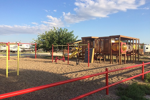 The kids love the great playgrounds at KOA campgrounds.