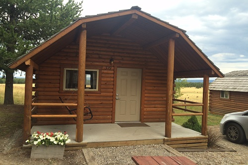 This was our cabin at the Yellowstone Park / West Entrance KOA.