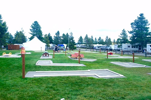 The West Yellowstone KOA even had a mini golf course.