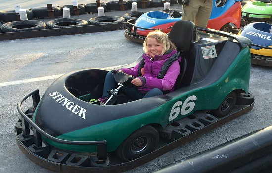There's so much to do at Woodloch, like go-karts, bumper cars and ziplines.