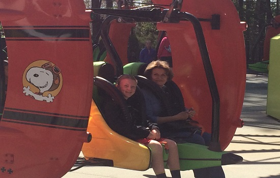 Riding Woodstock Whirlybirds with Grandma.