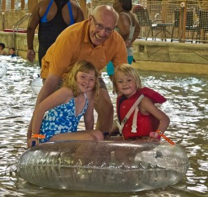 Kate, Molly & My Dad at Great Wolf Lodge (Williamsburg)