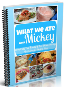 what we ate with mickey