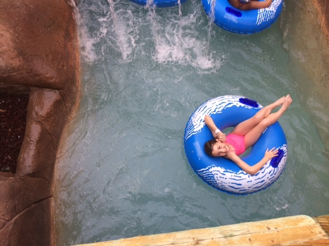 Clare Floating Down the Lazy River