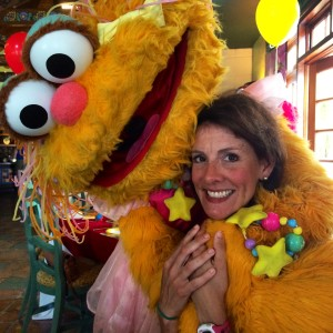 Zoe & I at the Sesame Street Character Breakfast.