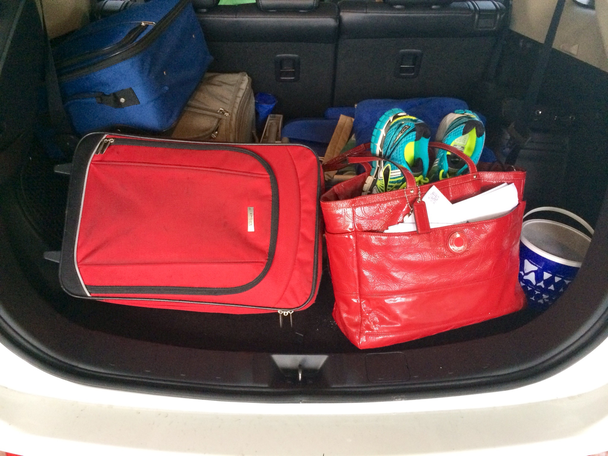 There was plenty of space for all of our gear in the back of the Mitsubishi Outlander.