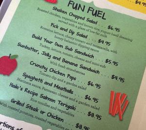fun fuel  menu