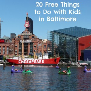 Free Things to Do with Kids in Baltimore