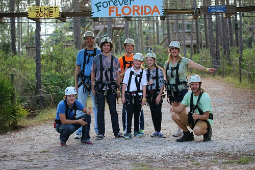 group shot ziplines forever florida