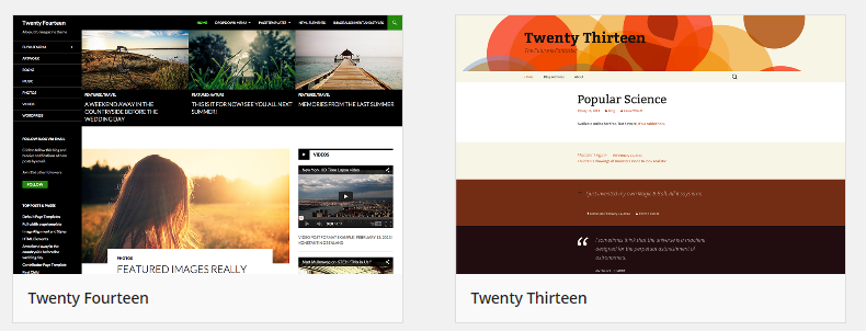 preloaded wordpress themes
