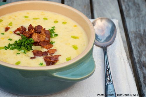 New Hampshire-Corn and Bacon Chowder