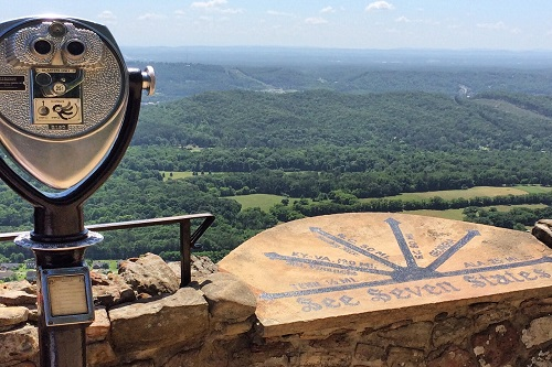From Lover's Leap at Rock City look for incredibly scenic views.