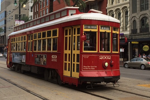 One of the streetcar lines ran right in front of our hotel on Canal Street.