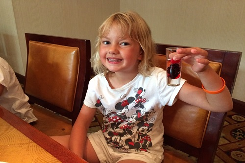 My daughter loved her kiddie cocktail at Broad Street Grille.