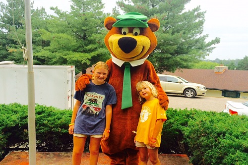 Everyone was so friendly at Jellystone Park, including Yogi Bear.