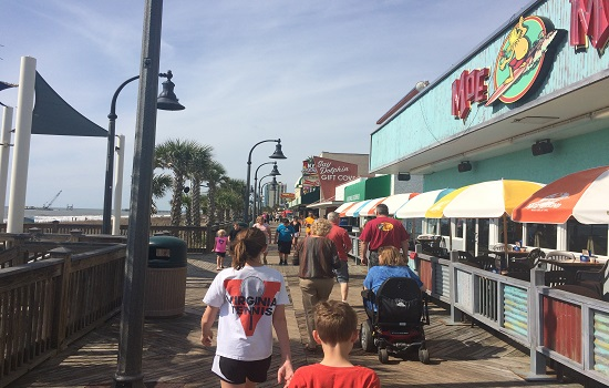 Be sure to take a stroll along the Myrtle Beach Boardwalk.
