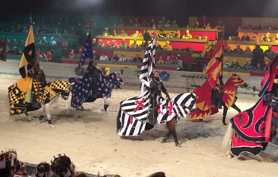 We cheered on the black and white knight at Medieval Times.