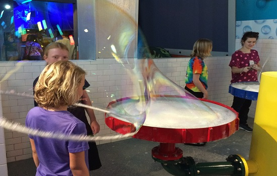 WonderWorks is a must-visit in Myrtle Beach. We loved the Bubble Lab.