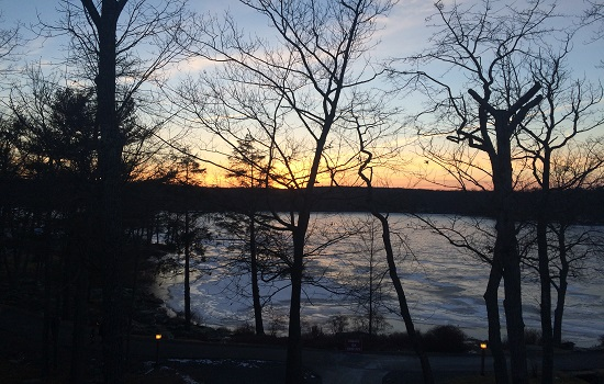 The view from our suite at Woodloch was fantastic.