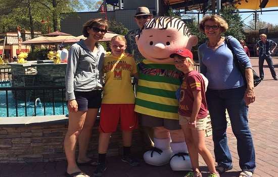 We loved meeting all the Peanuts Gang characters!