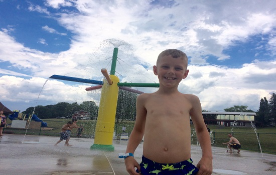 Paul definitely loved the swimming pool and the splash pad at Sunny Hill