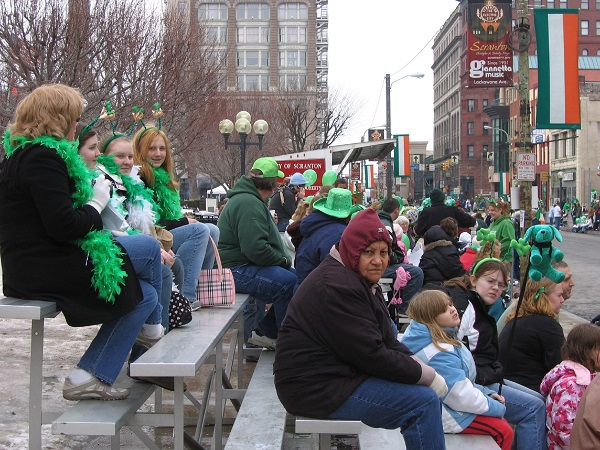 St. Patrick's Day Parade in Downtown Scranton
